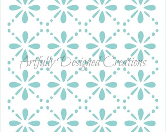 Floral Trellis Background Stencil