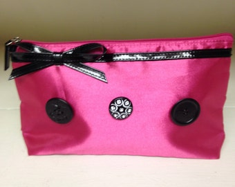 Upcycled Lancome Cosmetic Bag