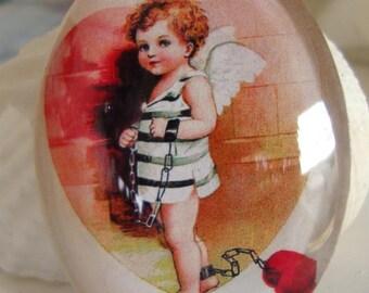 Cupid Cabochon, Valentine Cabochon,Glass Dome CABOCHON