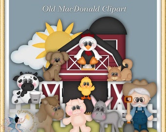 Old MacDonald Farm Clipart