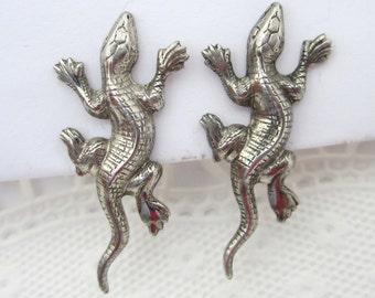 Sterling silver flower earrings - silver flower earrings dangle aviation
