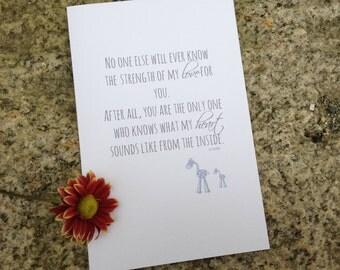 Pregnancy Loss Card, Grief Card, Loss Card, Letterpress ...