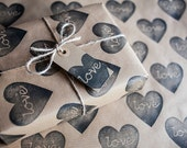 Heart Wrapping Paper: Including 1 Piece Gift Wrap, 2 x Gift Tags & Twine