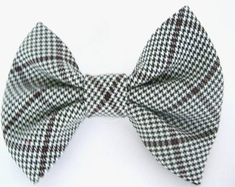 Dog bow tie Black and white bow tie for dog Pet bow tie Removable collar bow tie Large dog bow tie