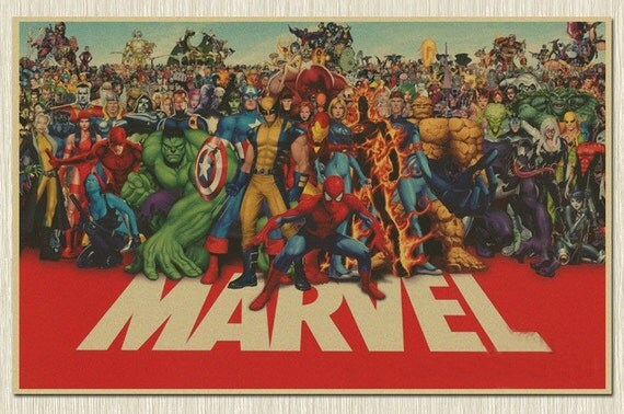 University Style Posters Vintage Style Poster | Marvel