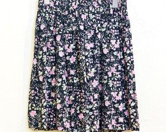 Vintage Floral Mini Skirt (023)