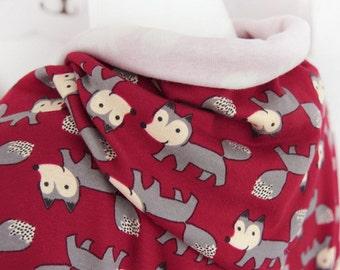 Rib Knit Fabric Cute Fox Wine By The Yard
