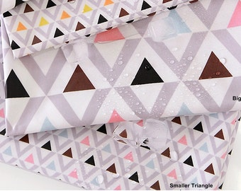 Laminated Cotton Fabric Triangle Pink Sky By The Yard