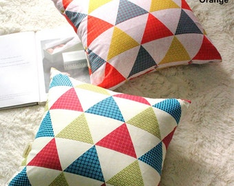 Oxford Cotton Fabric Big Triangle in 2 Colors By The Yard