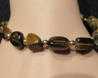 Genuine Tigers Eye Bracelet/ Handmade/ Handcrafted