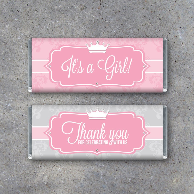 princess baby shower candy bar wrappers printable instant