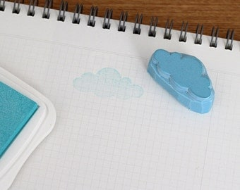 Cloud rubber stamp. Hand carved stamp. Handmade stamp. Unmounted stamp. Cute stamp.