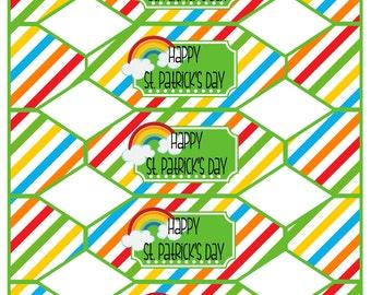 DIY Printable Favor Box - St Patrick's Day Treat Box - Happy St. Patrick's Day - Instant Download