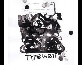 typewriter ink pour print
