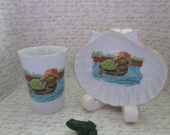 Super Set Of Suzy S Zoo Bathroom Cup And Soap Dish Featuring Corky Turtle Bathroom Decor Bathroom