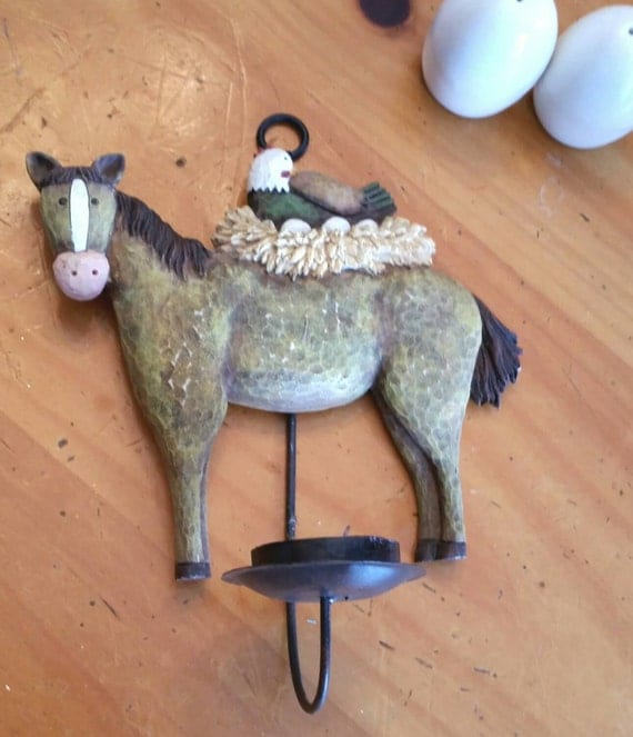 Horse Kitchen Decor: Candle Holder Horse And Hen Resin Wall By WildThings2Treasure