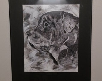 Stippled/Pointillism Animal Portraits
