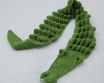 Hand Knitted Crocodile Scarf