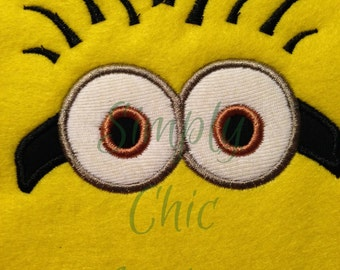 Instant Download Minion inspired Face Applique Design