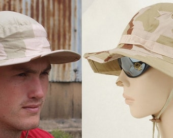 New Unissued US army desert boonie hat cap camouflage camo summer festival military