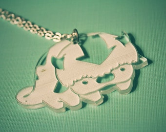 Appa Avatar the Last AirBender and Legend of Korra - Air Bison /// Acrylic Necklace