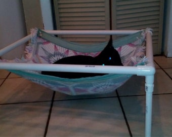 Cozy cat hammock with frame