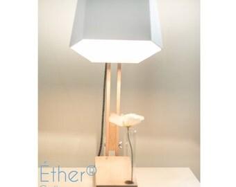Ether, lamp design wood