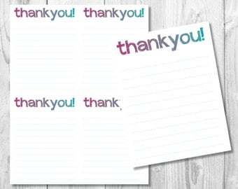 DIY Thank You Note Cards/ Printable Thank You Cards