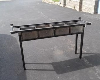 Industrial Style Steel Buffet Table - Free Shipping!