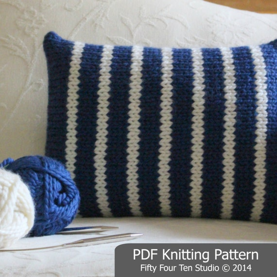 Easy Cushion Knitting Pattern : Pillow KNITTING PATTERN / Cushion / Quick & Easy Knit / Super