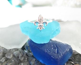 Fleur de Lis Ring- Sterling Silver
