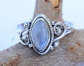 Moonstone ring,moon stone silver ring, silver ring,  silver rainbow ring, stone ring, 92.5 sterling silver, moon stone Silver Ring, RNSLMN1