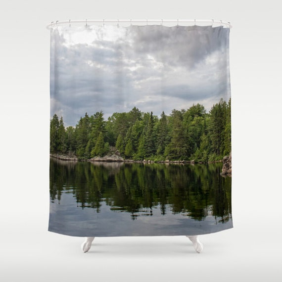 Shower Curtains, Boundary Waters, Lake Photography, Evergreen Trees, Bathroom Decor, Northwoods Bath, Woodland Images, Bath Art, Minnesota