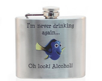 Stainless Steel Flask - Dory Design 5oz