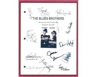 The Blues Brothers Signed Movie Script Rpt John Belushi  Dan Aykroyd
