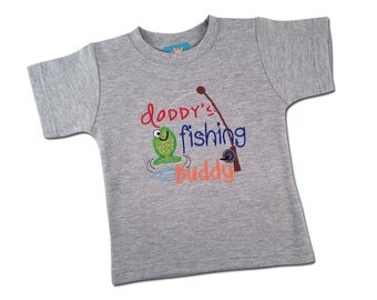 Boy's 'Daddy's Fishing Buddy' Embroidered Shirt