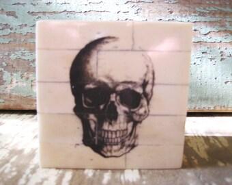 Skeleton bone trinket box.
