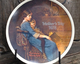 Bedtime  Collector Plate 1978 Norman Rockwell