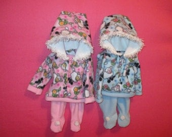 Two-piece snowsuit for three to six-month old