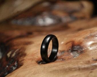 Handmade Promise Ring Natural Ebony Ring Wooden Wedding Ring