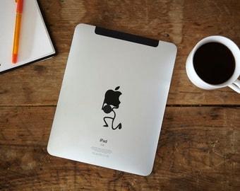 Stickman Carrying iPad Decal