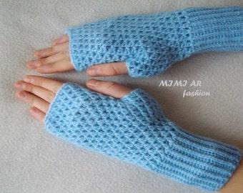 Elegant Crochet Fingerless Gloves,SALE WINTER Gloves Fingerless Gloves Hand Made Croche Gloves