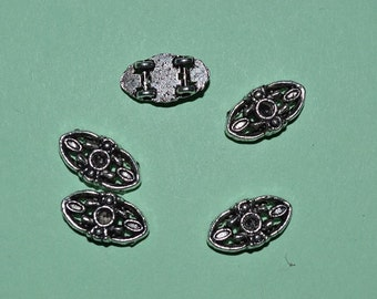 5 - Tibetan Silver Double Strand beads (3026038)