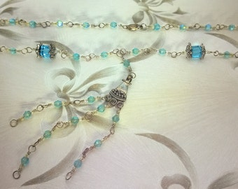 Sparkly Blue and Silver Necklace