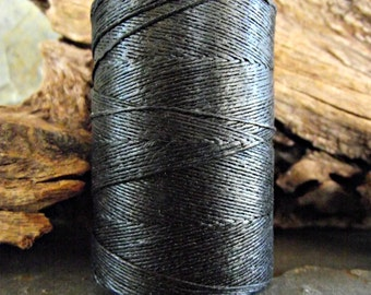 2 Ply Black Waxed Irish Linen Thread 10 Yards WIL-22 crochet knitting sewing supplies crafts embellishments natural rustic shabby chic boho