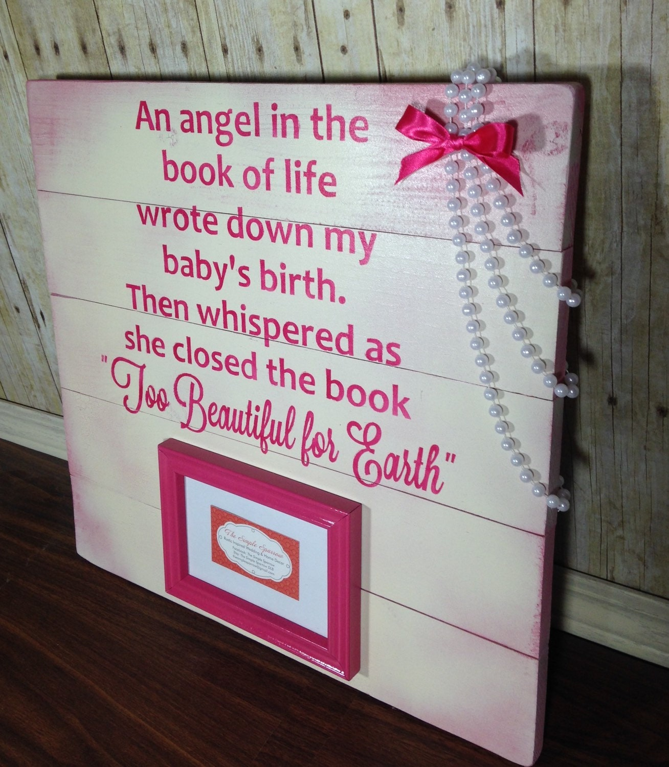 Death Of Child Memorial Sign Book Of Life By