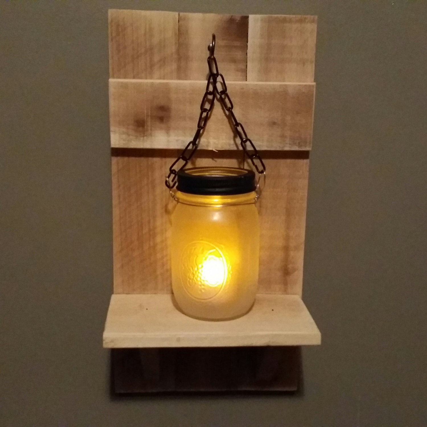 Country Wall Sconce Candle Holder : Mason jar Candle Holder Rustic Country Decor sconce candle