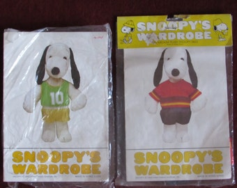 Vintage Pair of Snoopy's Wardrobe Outfits Made in Hong Kong