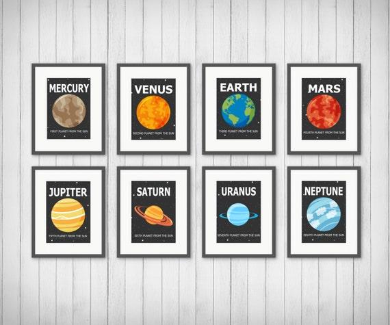 Planet Prints Solar System Boy or Girls Room Decor