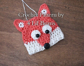 Crochet Pattern: Crochet Fox Ornament Pattern, Crochet Fox Pattern, Crochet Christmas Ornament (Pattern 21) Instant Digital Download